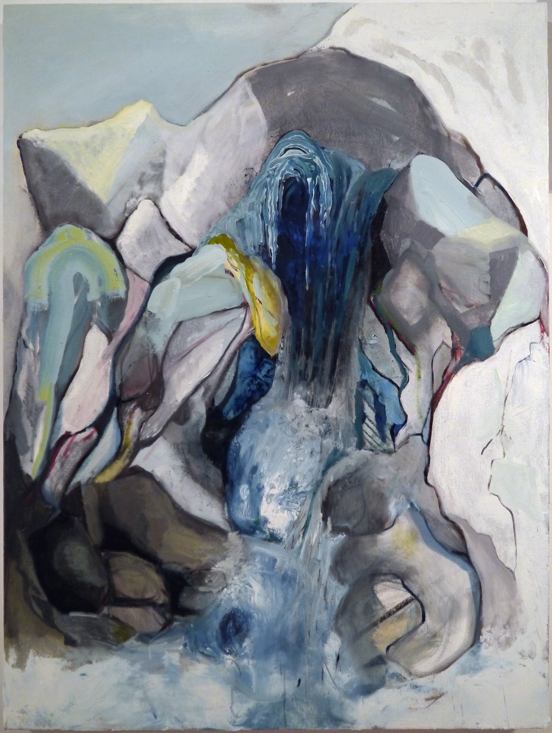 Kathline Carr Climbing the Fracture Zone, Oil Painting on Canvas