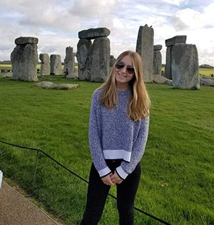 Ally at stonehenge