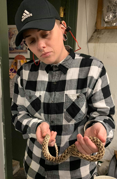 C Ryan with snake