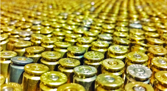 rows and rows of bullets