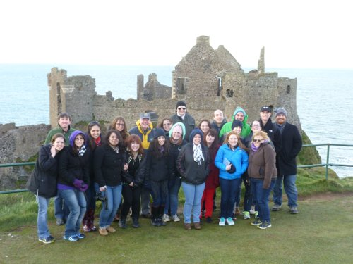Students at Irish castle