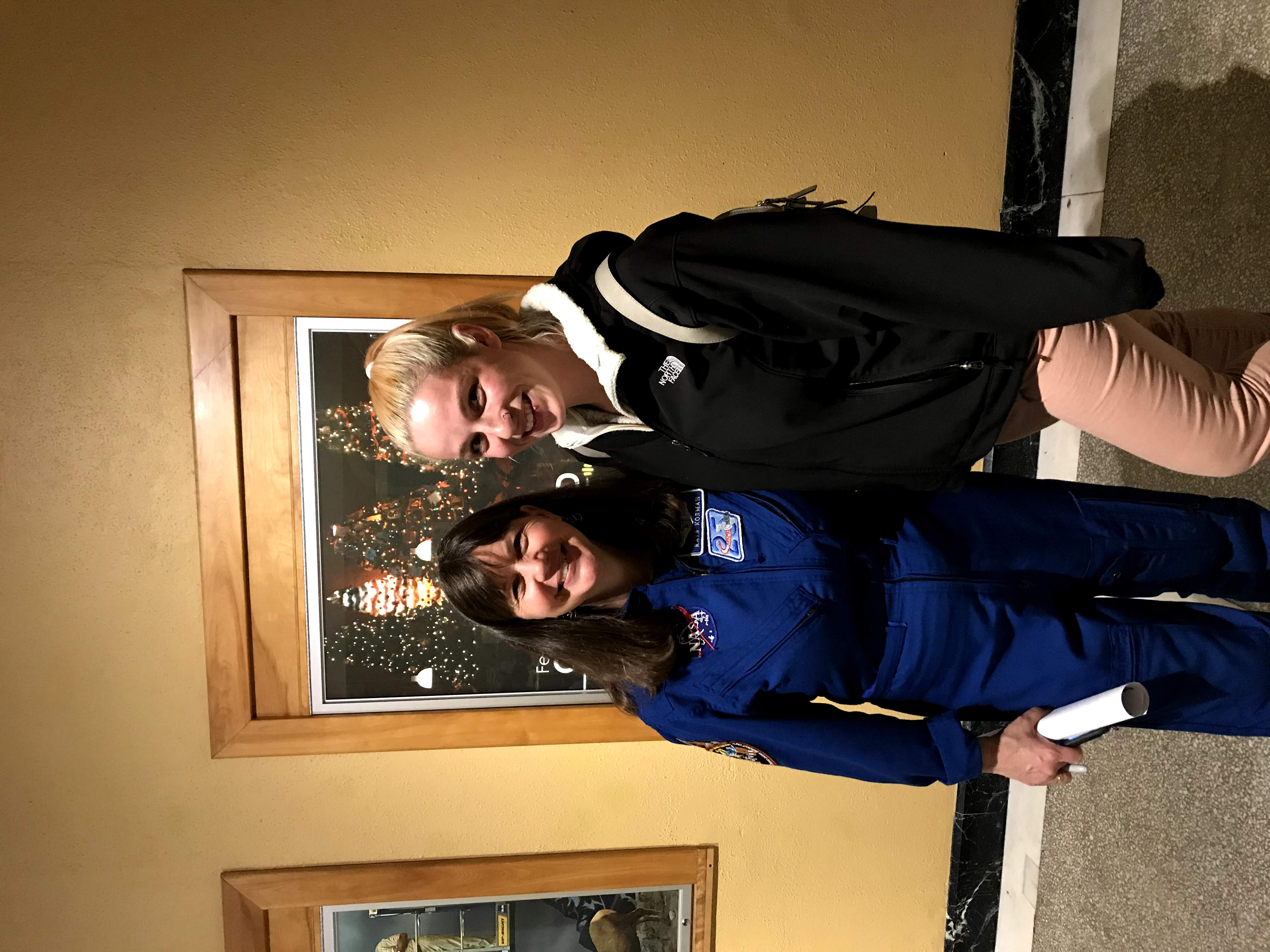 Alliey Pevay '16 with NASA Astronaut Cady Coleman