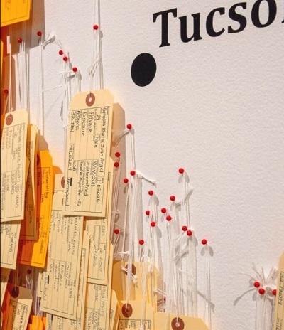 Part of the MCLA BCRC's Hostile Terrain exhibition, opening in February, will be a display of more than 3,200 toe tags, each representing someone who died attempting to cross the Sonoran Desert to reach the U.S.